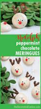 reindeer chocolate peppermint meringue cookies for a fun christmas