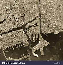 Long Beach California Map Historical Aerial Photograph Long Beach California 1963 Stock