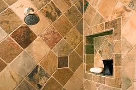 eclectic bathrooms designs remodeling htrenovations the recessed shower shelf was framed with slate tiles to make this area stand out in this eclectic shower in media pa
