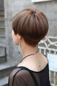 bob hairstyle cut wedged in back back view of cute short japanese haircut back view of bowl