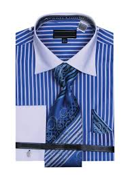 dress shirts w matching tie u0026 hanky set royal blue 15 5 33 34