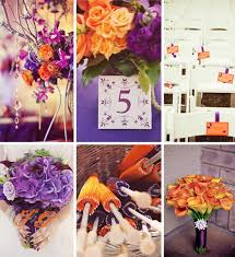 orange purple wedding colors tbrb