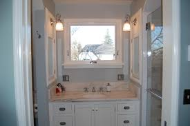 Small Bathroom Cabinet by Small Bathroom Vanity With White Cabinet Under The Square Window