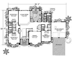 mediterranean style house plan 6 beds 6 50 baths 4883 sq ft plan