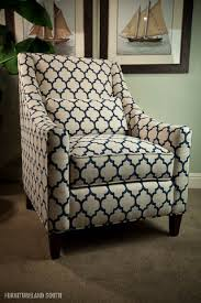 Blue And White Accent Chair Huntington House Chair Living Room Navy Chair Home Decorating
