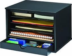 Stylish Desk Organizers by Amazon Com Victor Wood Midnight Black Collection 4 Shelf