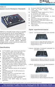digital analog trainer kit basic electronics trainer universal
