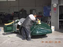 west coast body and paint green jaguar xk120 19 van nuys auto