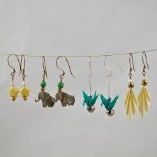 origami earrings prairie kate jewelry prairie kate creations