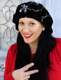 butterfly velvet beret alopecia hat chemo hat http www