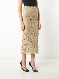 lace skirt robert rodriguez mid length lace skirt 297 buy ss17 online