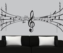 Music Note Wall Decor Modern Vinyl Wall Decal 3d Music Notes Decal Black Silhouette