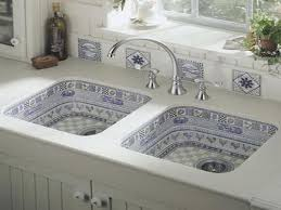 kitchen double sink kitchen sink ideas with double space and cool pattern colors