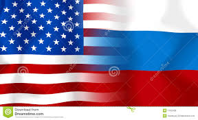 flag of russia and flag of usa stock illustration image 78332205