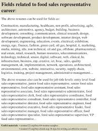 Resume Samples For Sales Representative by Top 8 Food Sales Representative Resume Samples