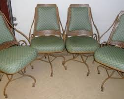 Antique Wrought Iron Outdoor Furniture by Wrought Iron Chairs Etsy