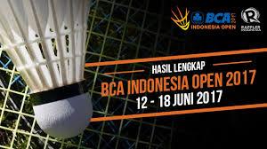 hasil lengkap bca indonesia open 2017