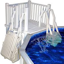 amazon com vinyl works above ground swimming pool resin deck kit