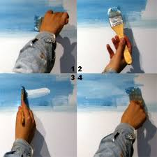 painting clouds wet on wet using acrylic or oil paints