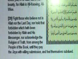 quran says fight christians and jews peaceful verses