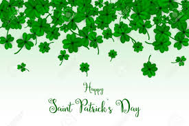 happy green color happy saint partick s day with falling shamrocks st patricks
