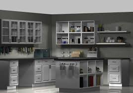blue kitchen cabinets grey walls what are suitable cabinet colors for grey granite countertops