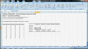 tutorial xlstat correlation coefficient excel etame mibawa co
