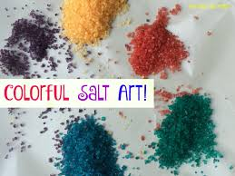 mini monets and mommies colored salt painting it u0027s art and science