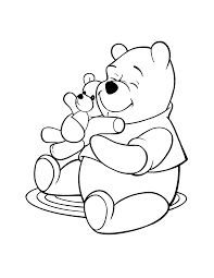 free printable winnie the pooh coloring pages for kids for teddy