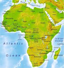 nigeria physical map physical map of africa