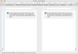 layout editor comparison comparing text files or typed pasted text