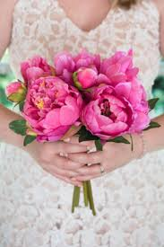 silk flower bouquets pink peony bouquet 14in