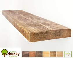 Thick Floating Shelves by Floating Shelves Modern Rustic Floating Shelves Wood