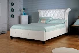Limelight Epsilon Ft Double White Faux Leather Bed Frame By - White faux leather bedroom furniture
