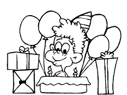 gifts and happy birthday coloring pages for boys 517607 coloring