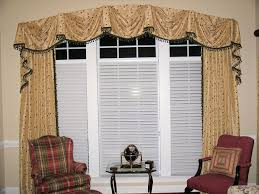 arched kingston valance with side panel draperies pender creek