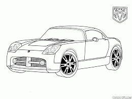 coloring page dodge usa