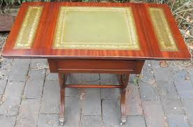 Leather Top Coffee Table Small Dropleaf Leather Top Coffee Table