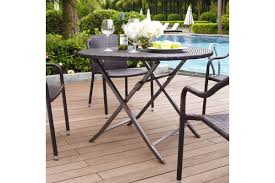 palm harbor outdoor wicker folding table in brown by crosley ship