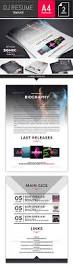 Musician Resume Sonik Dj And Musician Resume Photoshop Template By Dogmadesign