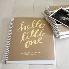 personalised new baby memory book project baby wishlist