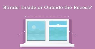 Blinds Outside Of Window Frame Blinds Inside Vs Outside The Window Recess Infographic Angel