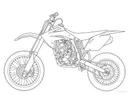 good dirt bike coloring pages yamaha colouring with shimosoku biz