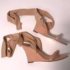 ribbon wedges bcbgmaxazria gabriela ribbon wedges size eu 37 approx us 7