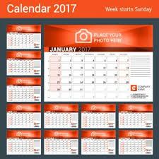 Desk Calendar Design Ideas Company 2017 Desk Calendar Design Vector Template 10 Vector