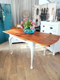 shabby chic walnut dining folding table for 4 6 people u2013 eclectivo
