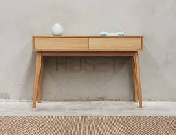 Entrance Console Table Furniture Copenhagen Solid European Oak Entrance Console Table By Bent