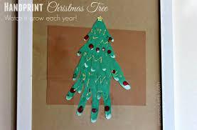 handprint tree framed wall