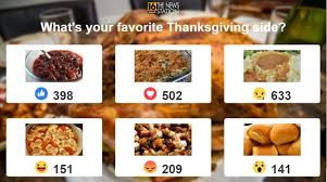 the results are in and your favorite thanksgiving side dish is