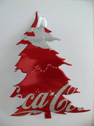 recycled soda can coke coca cola drink tree ornament